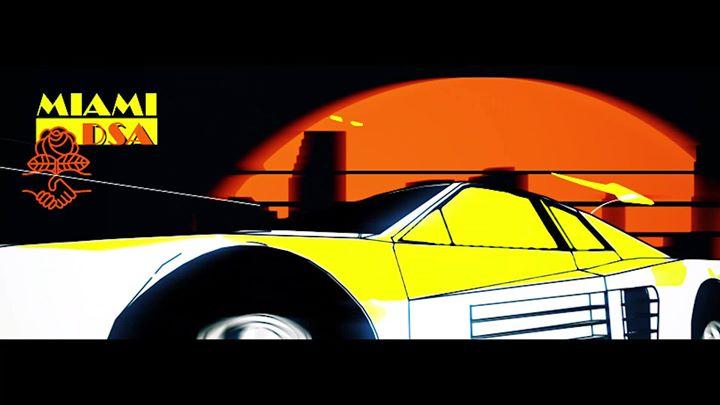 Miami DSA Miami Vice style car graphic