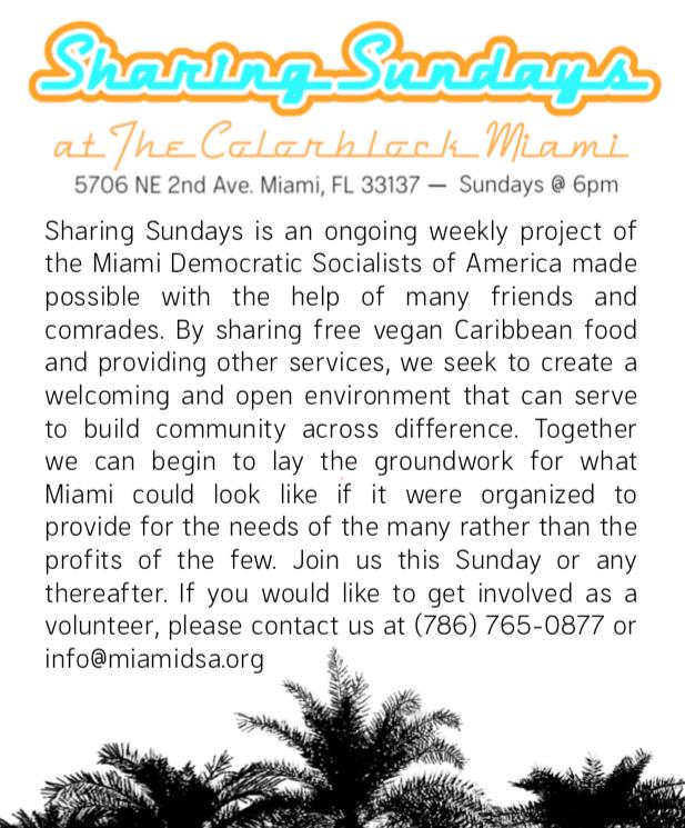 Sharing Sundays Flyer