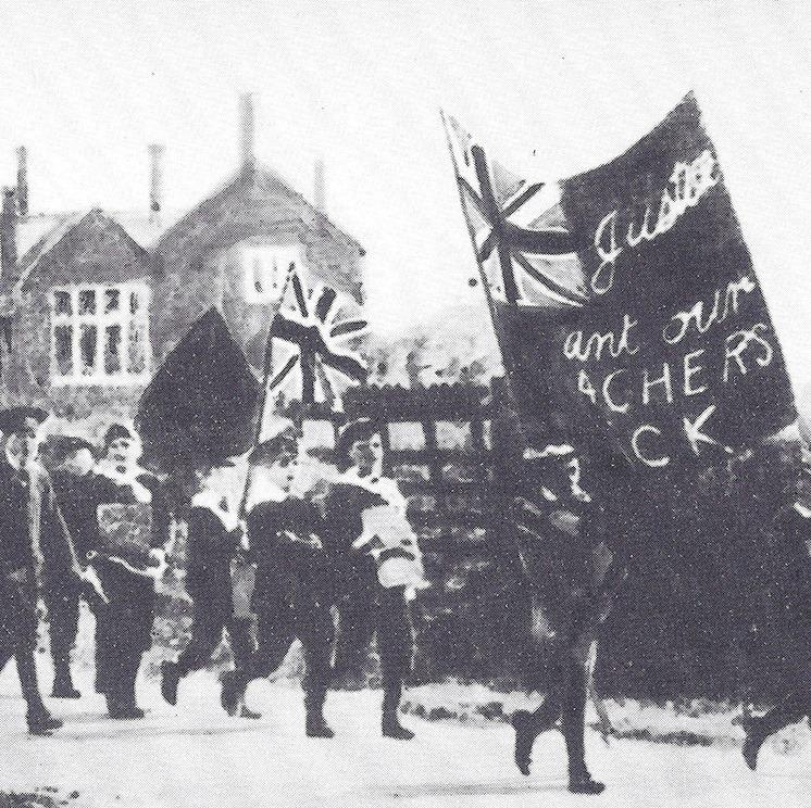 Kids striking in Burston Strike