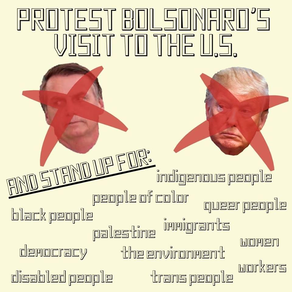 Bolsonaro protest flyer