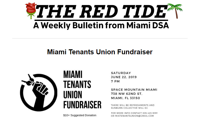 red tide tenant fundraiser