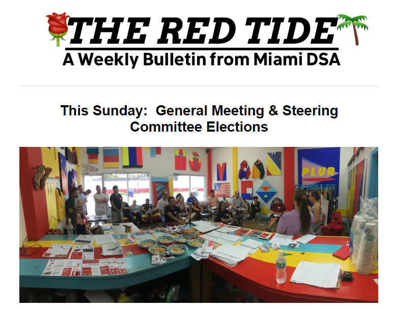 red tide committee election
