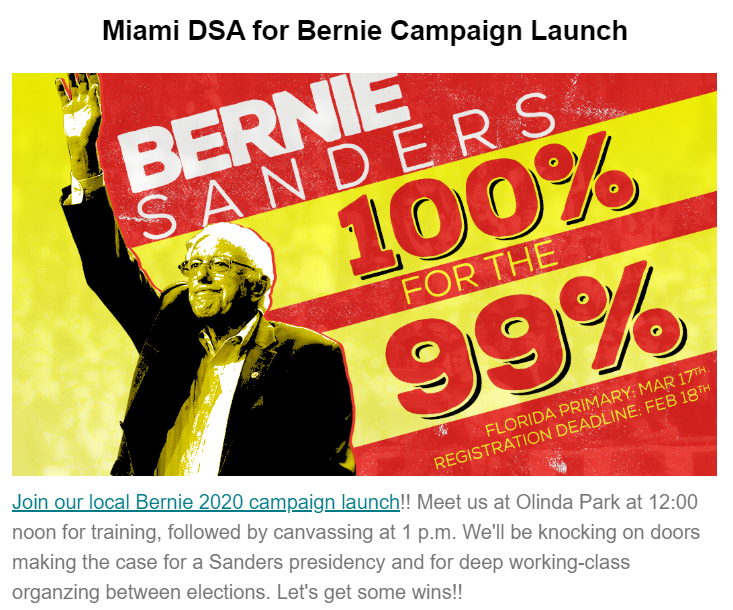 DSA for Bernie Launch