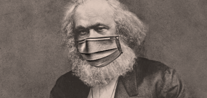 Marx with a face mask