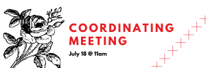 Coordinating Meeting on July 18th at 11am